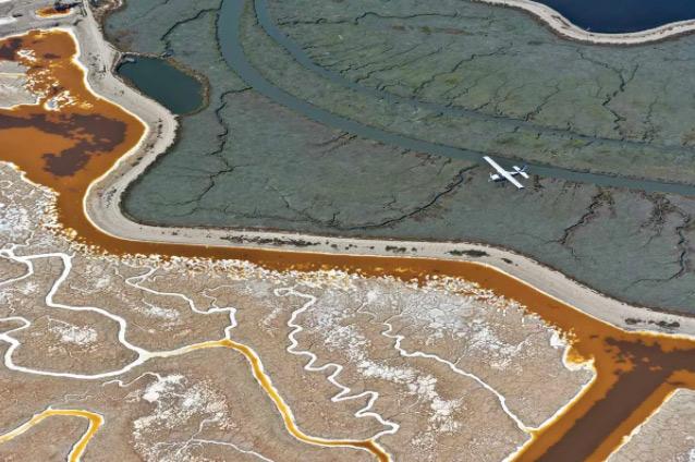 The tide is low: San Francisco Bay tidelands and waterway tributaries. (Steve Proehl / The Image Bank)